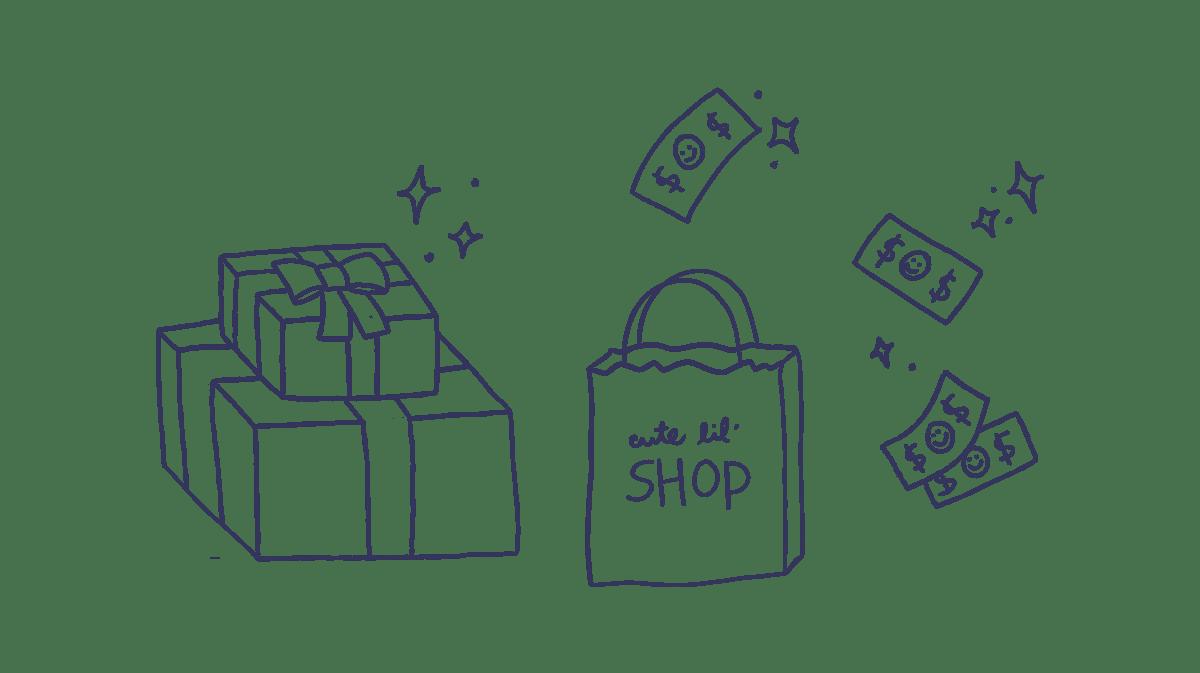 drive holiday sales shopping drawing