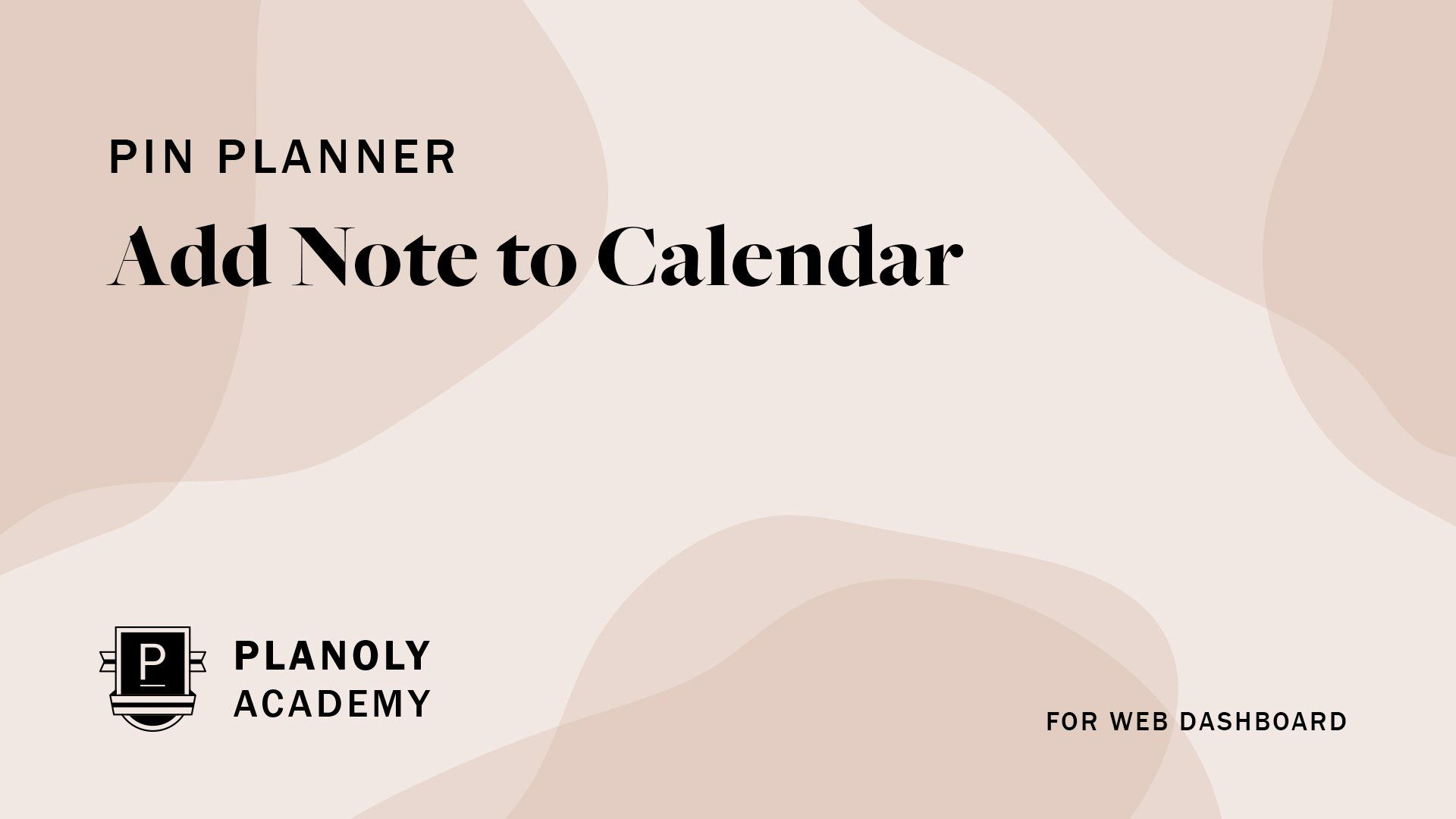 Add Note to Calendar