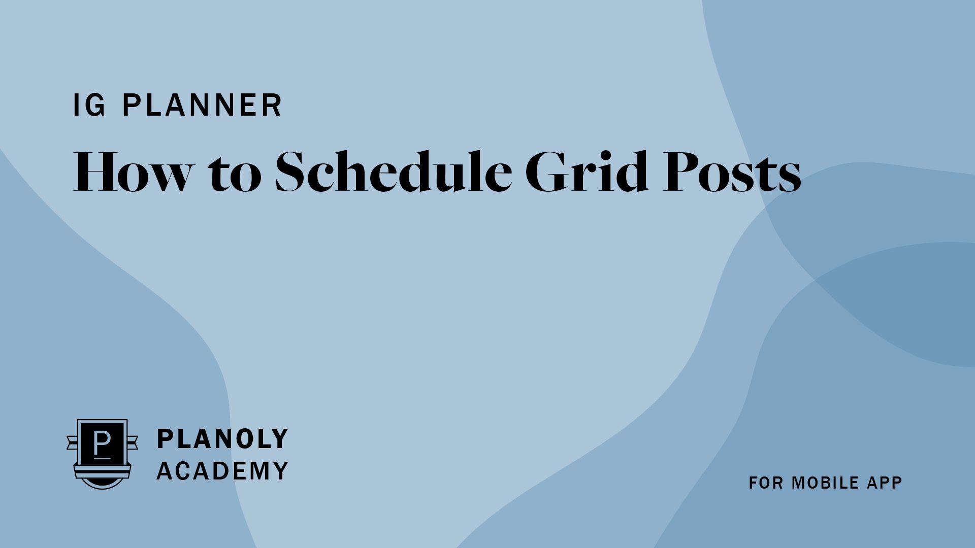 How to Schedule Grid Posts