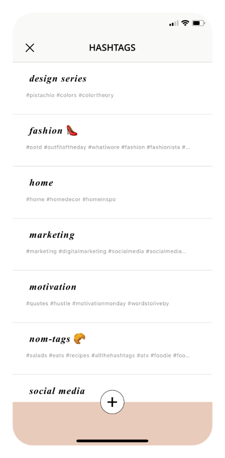 PLANOLY | Hashtags Mobile