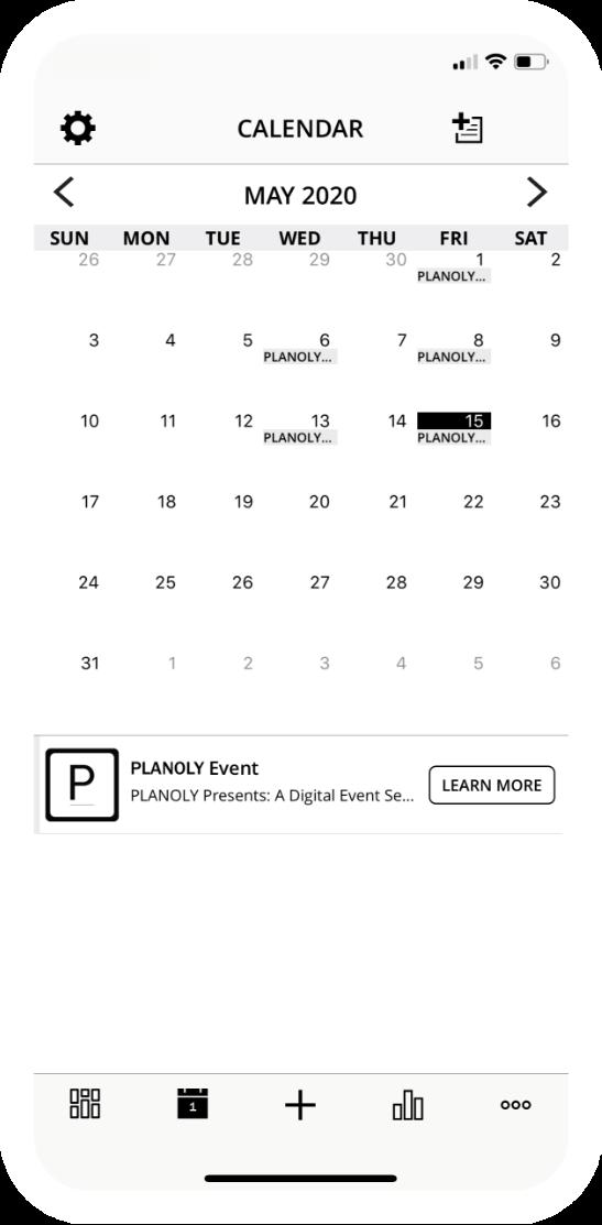 PLANOLY | Pinterest Mobile Calendar