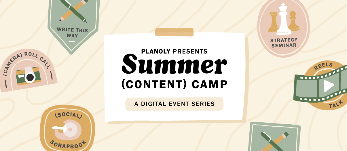 PLANOLY Presents - Summer Content Camp -General Email Banner