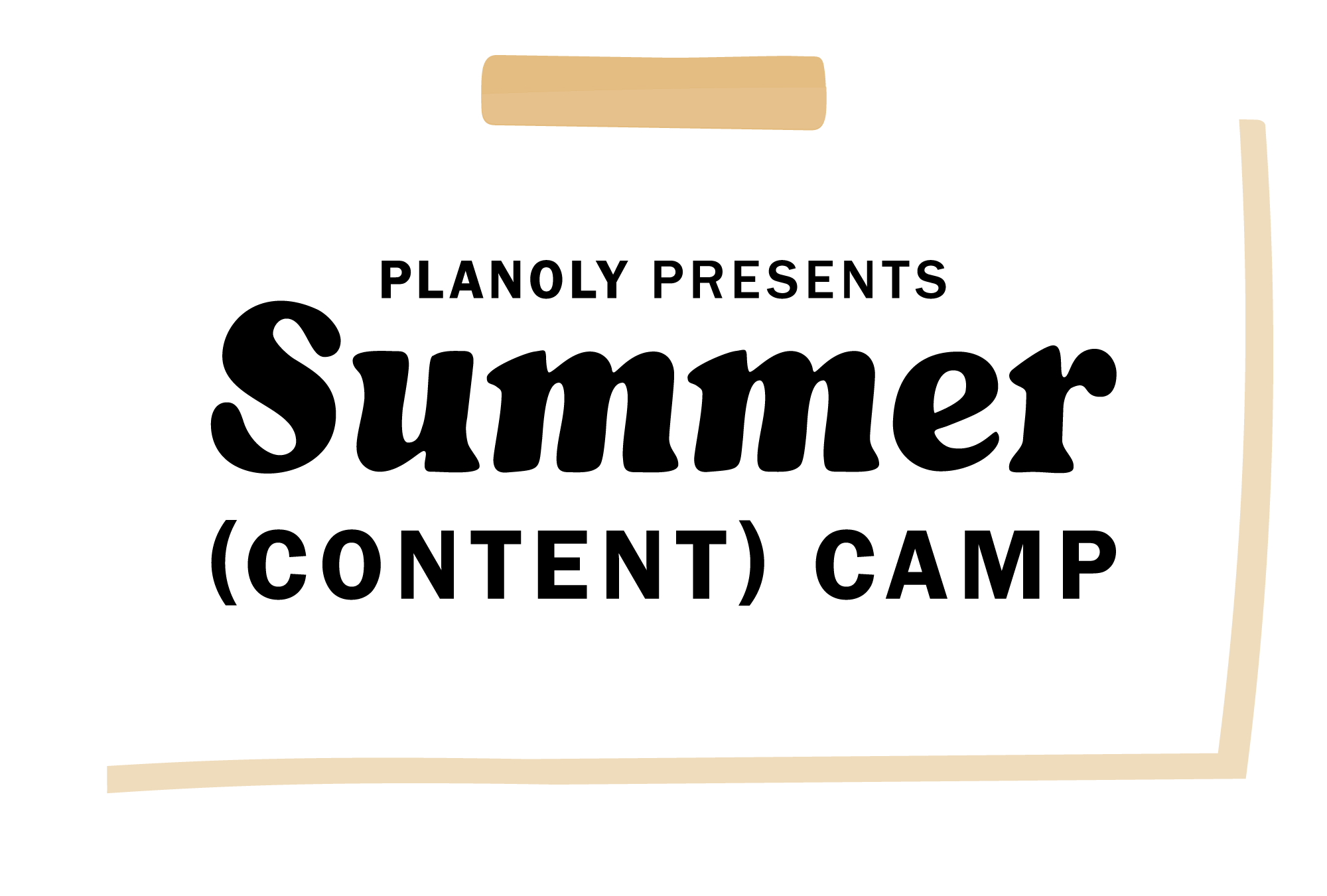 PLANOLY-Presents-Summer-Content-Camp-Logo-on-Postit