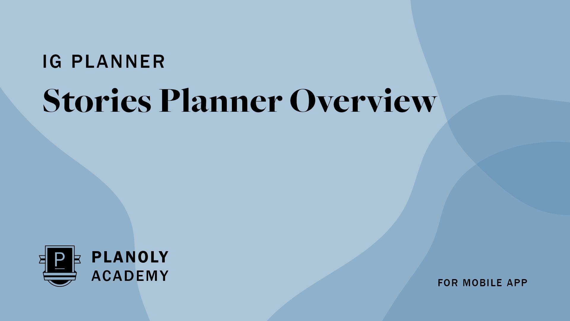 Get to Know Your Stories Planner