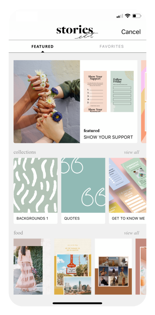 StoriesEdit | Templates